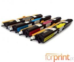 4 Cartuchos de Toneres Compatibles, Xerox 6121 Negro + Colores ~ 2.600 Paginas